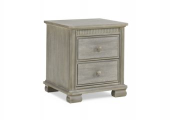 Florenza Nighstand in Dove Grey