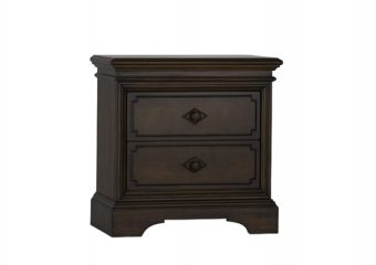 Amherst Nightstand in Burnt Oak silo