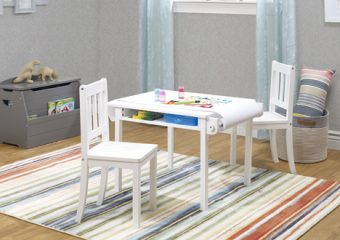 Sorelle Play Table ROom View white