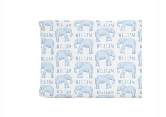 Changing Pad Cover - Elephant Blue