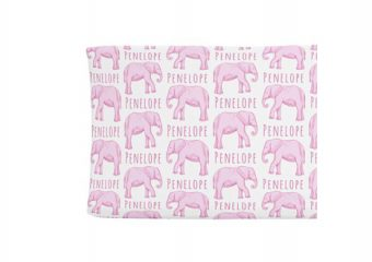Changing Pad Cover - Elephant Pink