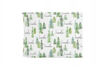 Changing Pad Cover - Pine Tree