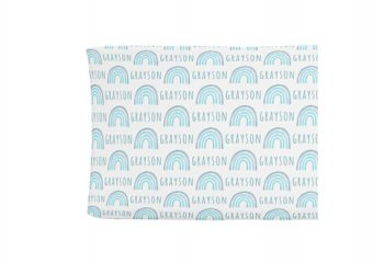 Changing Pad Cover - Rainbow Blue