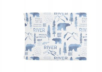 Changing Pad Cover - Woodland Blue