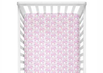 Crib Sheet - Elephant Pink