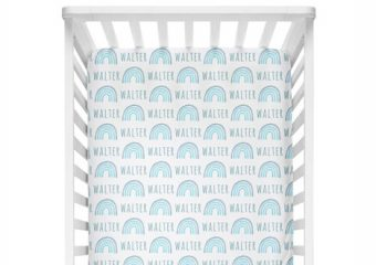 Crib Sheet - Rainbow Blue