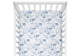 Crib Sheet - Woodland Blue
