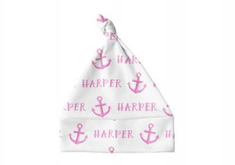 Knotted Baby Hat - Anchor Pink