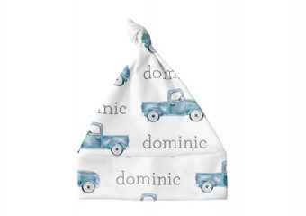 Knotted Baby Hat - Truck Blue