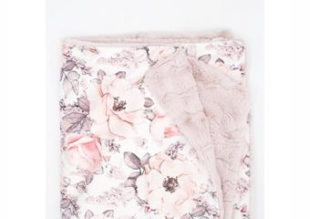Wallpaper Floral Minky Blanket