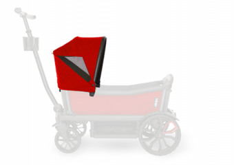 Custom Retractable Canopy Pele Red 6