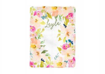 Garden Floral Milestone Blanket - Personalized 2