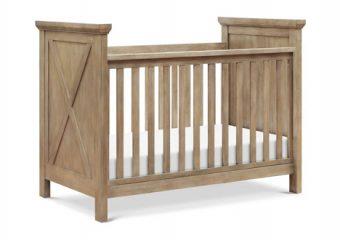 3 in 1 Emory Crib in Driftwood Angle
