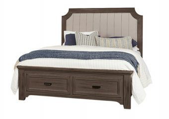 BUNGALOW FOLKSTONE QUEEN UPHOLSTERED STORAGE BED