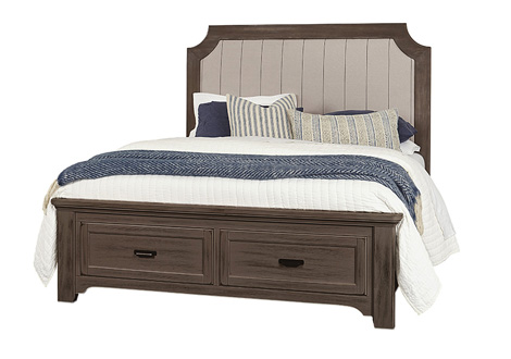 Bungalow Full Upholstered Storage Bed
