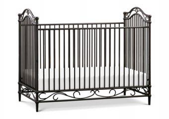 Camellia Crib in Vintage Iron Angle