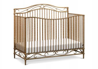 Noelle Crib in Vintage Gold Angle