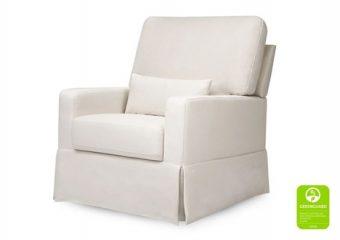 Crawford Pillowback Comfort Swivel Glider in Cream 2