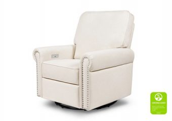 Linden Electronic Recliner and Swivel Glider in Cream 3