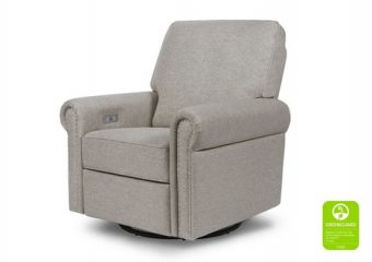 Linden Electronic Recliner and Swivel Glider in Grey 2