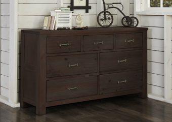 Highlands 7 Drawer Dresser Espresso