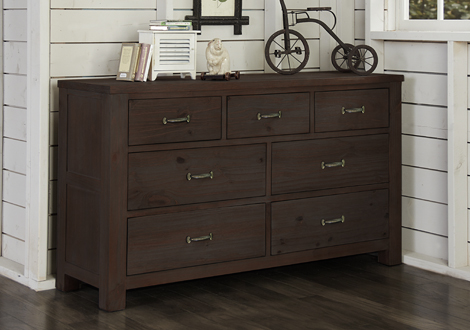 Highlands 7 Drawer Dresser in Espresso