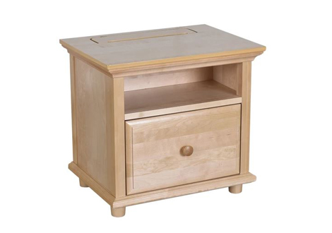Maxtrix 1 Drawer Nightstand in Natural