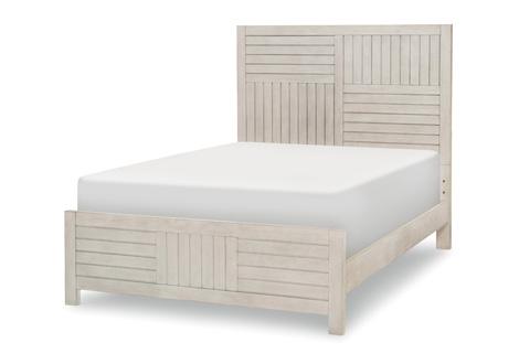 Summer Camp Full Panel Bed in White